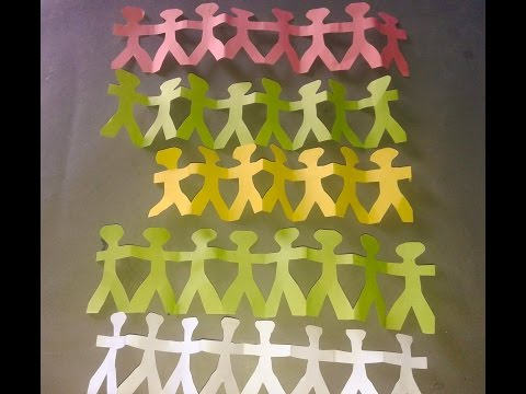 How to make a paper chain person|Paper Doll chain template Pdf&Origami (hobby)