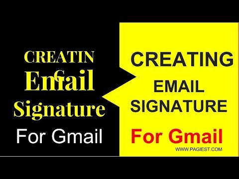 Creating an Email Signature For Gmail OR How TO  Create an Email Signature For Gmail