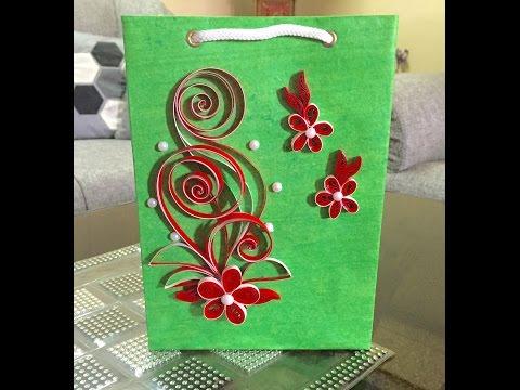 DIY Quilled Paper Gift Bag #15