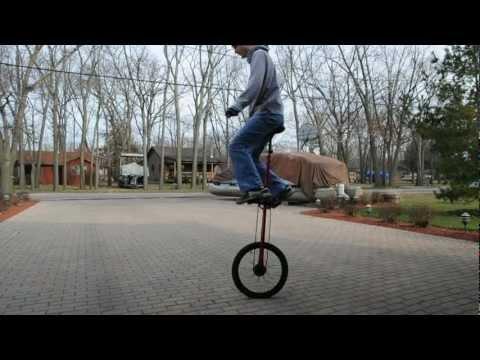 Giraffe unicycle practice