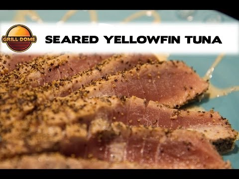 Grill Dome Kamados - Seared Yellowfin Tuna with a Creamy Soy Ginger Sauce