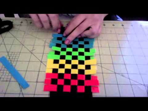 How to make a duct tape woven wallet!