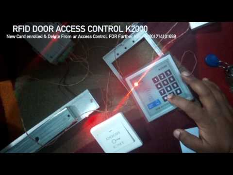 K2000 RFID Door access Control | New Card Enrolled and Delete |