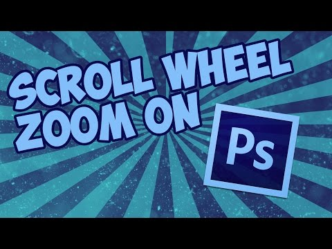 How to get the scroll wheel zoom on Photoshop (CC 2015 or other)