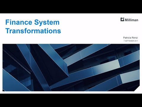 Milliman Breakfast Briefing: Finance system transformations