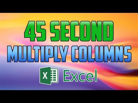 Excel 2016 : How to Multiply Columns