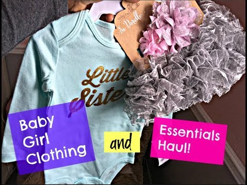 Baby Clothing & Essential haul | BeautyByChick