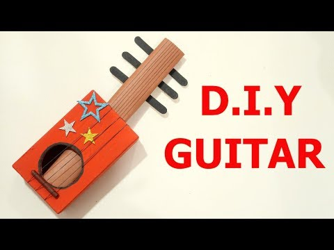 DIY GUITAR | MAKE EASY GUITAR FOR KID | BEST OUT OF WASTE COMPETITION IN SCHOOL | MUSICAL INSTRUMENT