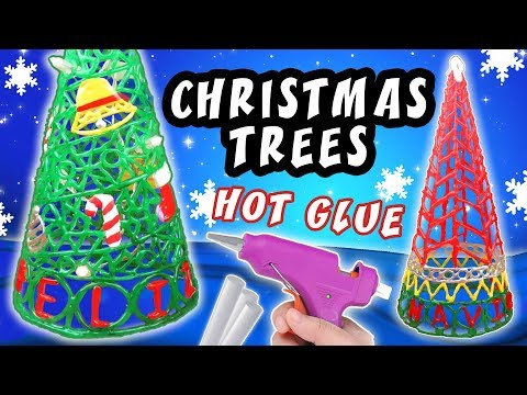 DIY CHRISTMAS TREES WITH HOT GLUE - CHRISTMAS CRAFT DECORATION IDEAS | aPasos Crafts DIY