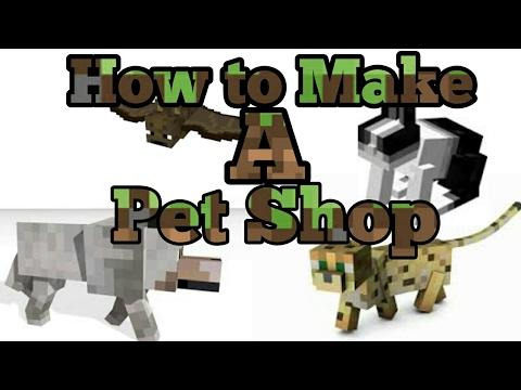 Minecraft pe ♡How to make a Petshop♡
