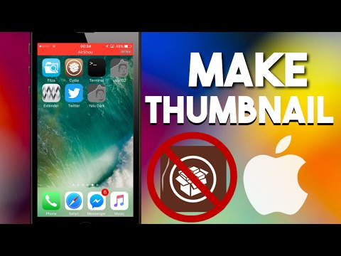 How to Make Thumbnail For Youtube Video With iPhone/iPod/iPad!