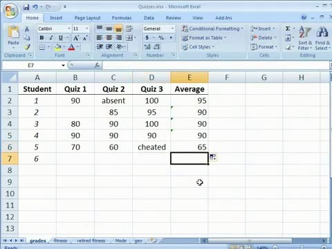 Statistical Analysis - Finding the arithmetic mean in Excel