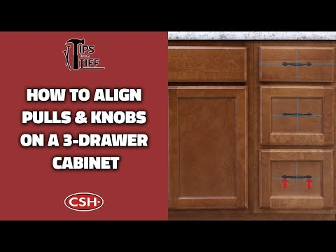 How to Align Pulls & Knobs on a Three-Drawer Cabinet