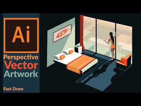 Drawing Perspective Vector Art in Adobe illustrator