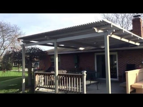 A new Louvered Pergola for Ms. Allamon in Kettering Ohio. This video shows the Louvers closing.