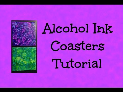 ALCOHOL INK COASTERS - Tutorial - Easy and Beautiful Gift Idea!