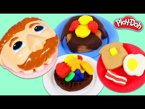 Making Mr. Play Doh Head Breakfast from Kitchen Creations Playset!