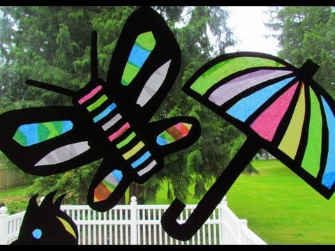 Suncatcher Tissue Paper Craft Stained Glass