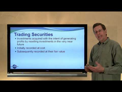 6 - Accounting for Highly Liquid Investments Known as Trading Securities