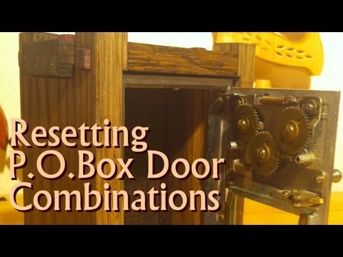 Post Office Box Door - Resetting the Combination