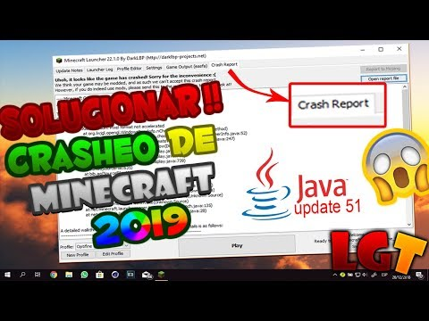 COMO SOLUCIONAR CRASH REPORT DE MINECRAFT Y JAVA WINDOWS 2018