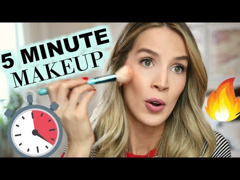 FAST & EASY 5 MINUTE MAKEUP | leighannsays