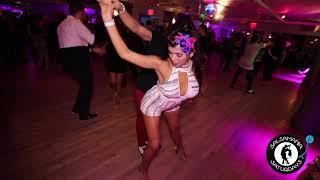 Eddie Torres Jr & Joanna Mancisidor Social Dancing At Salsamania Saturdays