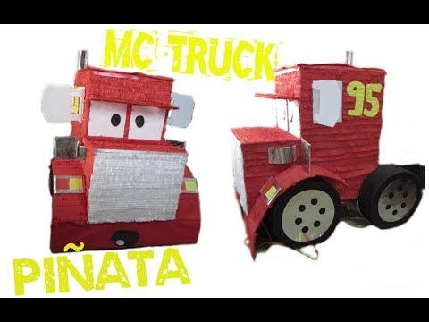 Como hacer una piñata de la Mc Truck - CARS