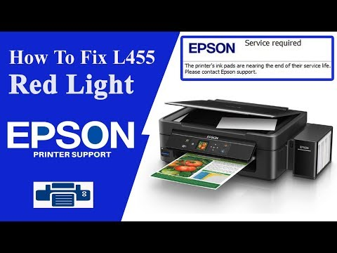 Epson l455 resetter, L455 Service Required