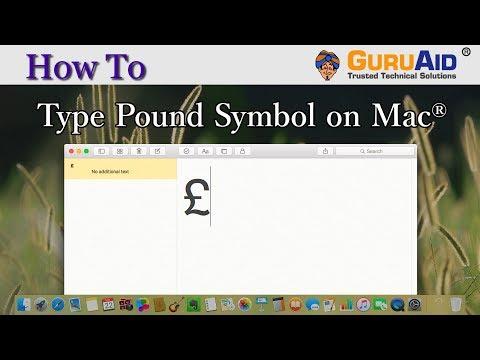 How to Type Pound Symbol on Mac® - GuruAid