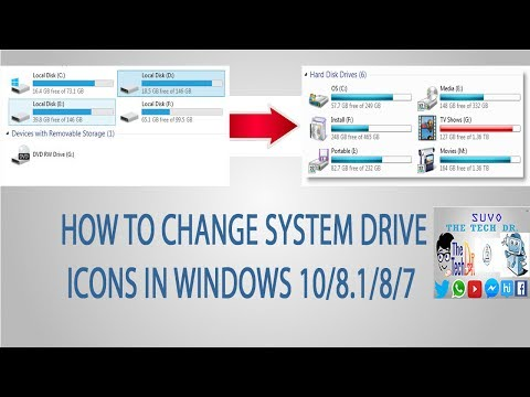 How to change system drive icons in Windows 10/8.1/8/7