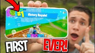 *MOBILE* Fortnite Battle Royale RELEASED! FIRST VICTORY ROYALE! - getplaypk