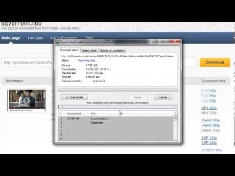 How to get link MP4, FLV in Youtube