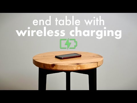 How To Build A Shou Sugi Ban End Table with Hidden Wireless Charging