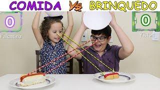 COMIDA VS BRINQUEDO - VICTOR GABIREL E VALENTINA - muito divertido