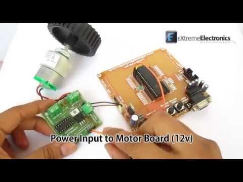 Simple Single Motor Control using ATmega16