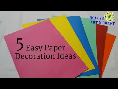 5 Easy Paper Decorations | Ganesh Chaturthi / Christmas / New Year Decoration ideas |