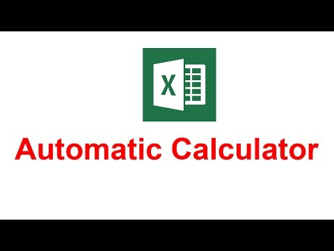 Automatic calculation number in excel 2016