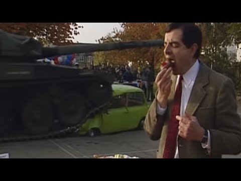 Car Squashed by Tank   Mr. Bean Official