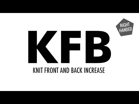 The Knit Front and Back Increase (KFB) :: Knitting Increase :: Right Handed