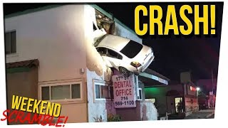 WS - Car Launches into 2nd Floor of Building ft. DavidSoComedy