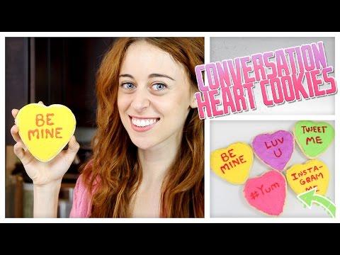 DIY Conversation Heart Sugar Cookies! - Do It, Gurl
