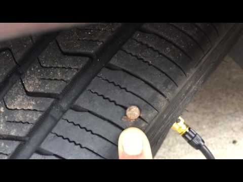 Pump up car tire with bicycle pump