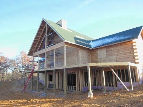 Building a log home part 10. November 2013 progress