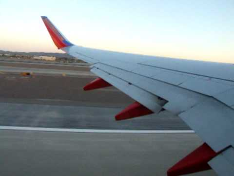 Taking off on Southwest flight from Phoenix, AZ to San Diego, CA  ( part 3)
