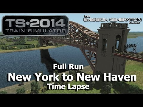 New York to New Haven Full Run - Time Lapse - Train Simulator 2014