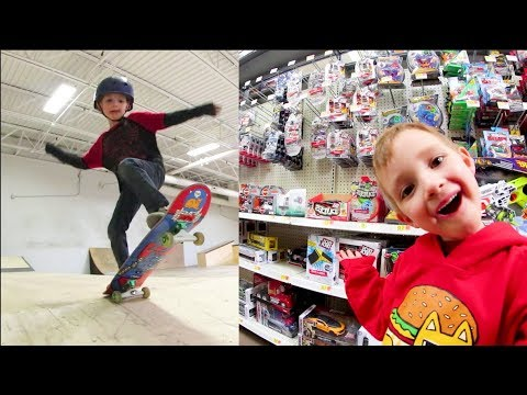 FATHER SON SKATE & TOY ADVENTURE TIME!