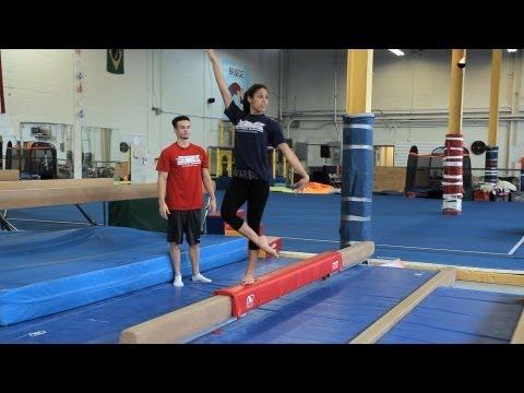 How to Do a Balance Beam Routine | Gymnastics Lessons