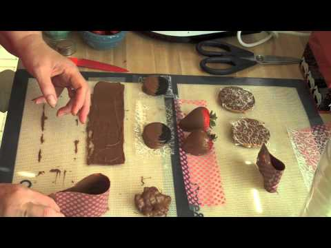 Using Chocolate Acetate Sheets