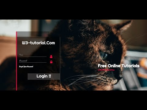 Transparent Login Form with HTML & CSS | Html Login Page Design | Login form Design with Source Code